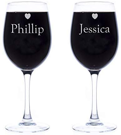 Getting Personal Personalised Wine Glasses Set of Two