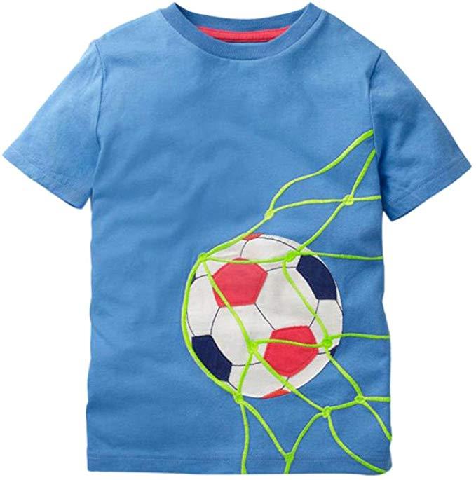 Fashion Toddler Kids Boys Girls Clothes Short Sleeve Tops T-Shirt Blous