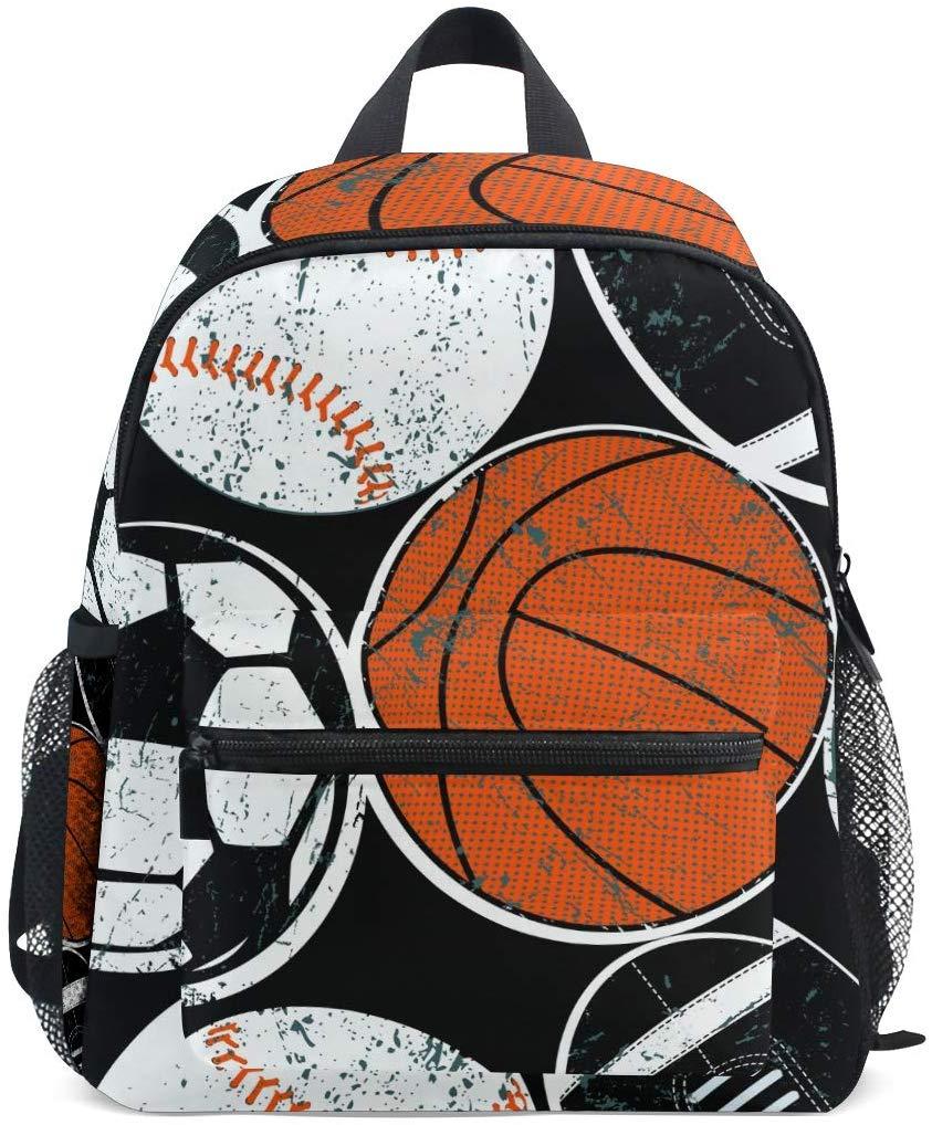 Sports Balls Soccer Baseball Basketball Toddler Backpack